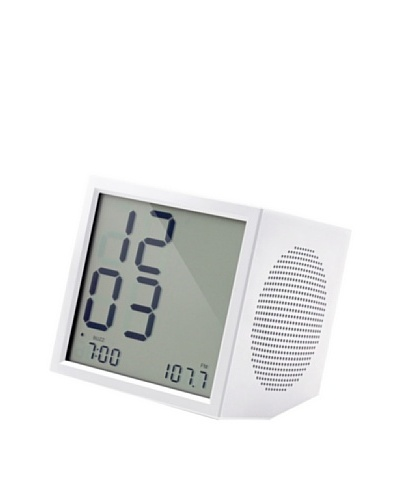 Lexon Prism Clock Radio, White