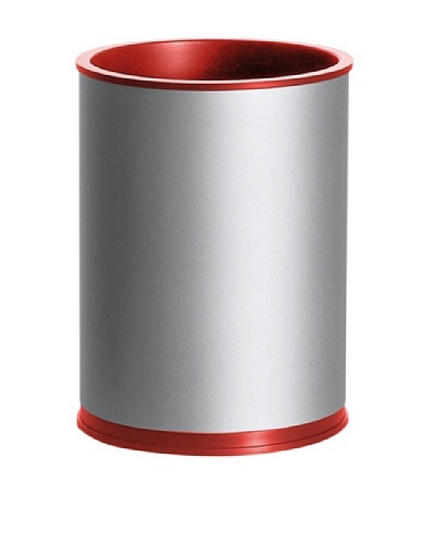 Lexon Boxit Aluminum Pen Cup, Aluminum/Red