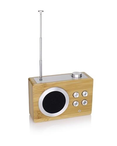 Lexon Mini Dolmen Radio, Bamboo