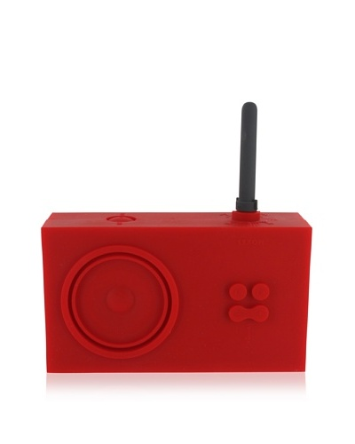 Lexon Tykho Rubber Radio, Red