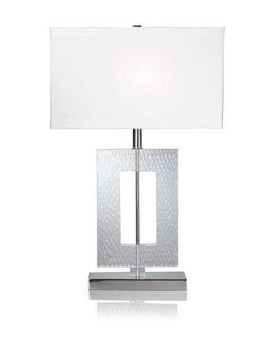 Lighting AccentsEtched Acrylic Rectangle Table Lamp