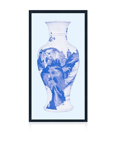 Lillian August Asian Vase in Blue