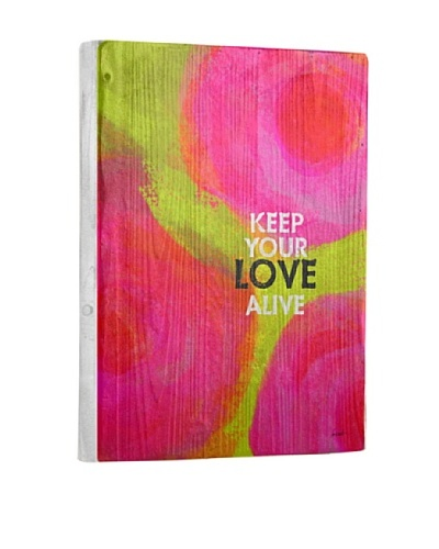 Lisa Weedn Keep Love Alive Reclaimed Finished Wood PortraitAs You See