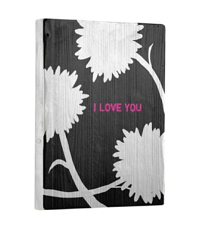 Lisa Weedn I Love You Reclaimed Finished Wood Portrait