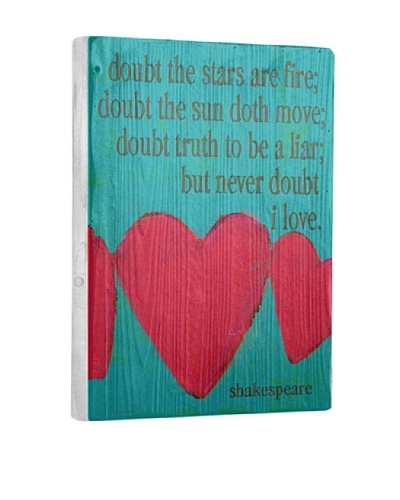 Lisa Weedn Never Doubt Love Reclaimed Finished Wood Portrait