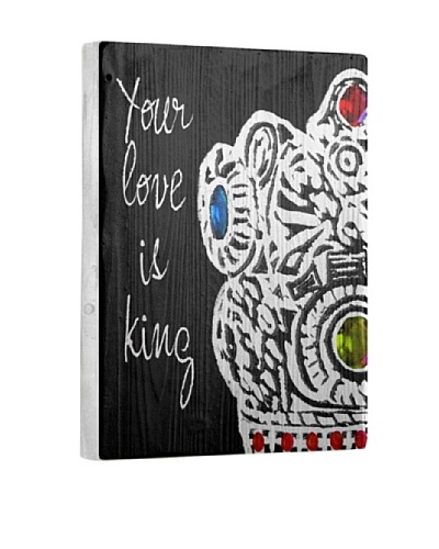 Lisa Weedn Your Love Is King Reclaimed Finished Wood Portrait