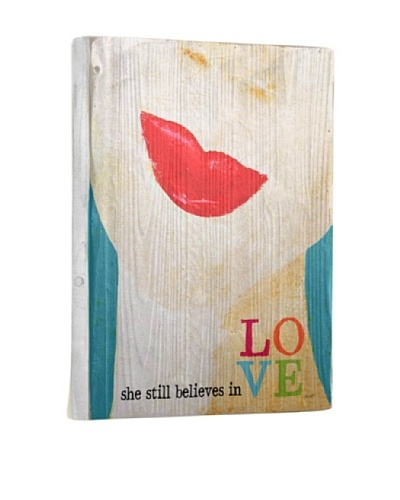 Lisa Weedn She Still Believes Reclaimed Finished Wood Portrait