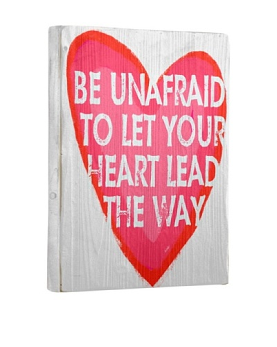 Lisa Weedn Be Unafraid Reclaimed Finished Wood Portrait