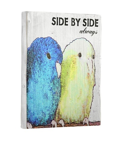 Lisa Weedn Side By Side Reclaimed Finished Wood Portrait