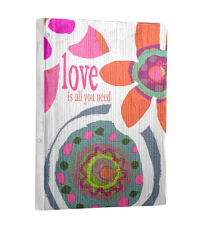 Lisa Weedn Love Is All You Need Reclaimed Finished Wood Portrait