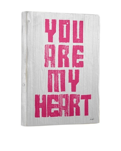 Lisa Weedn You Are My Heart Reclaimed Finished Wood Portrait