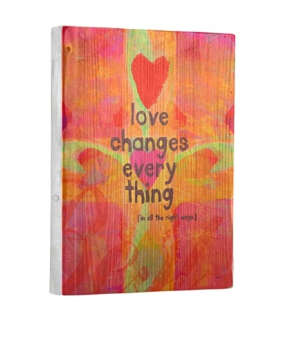 Lisa Weedn Love Changes Everything Reclaimed Finished Wood Portrait