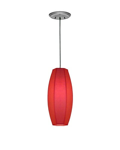 Lite Tops Oblong Pendant, Satin Nickel