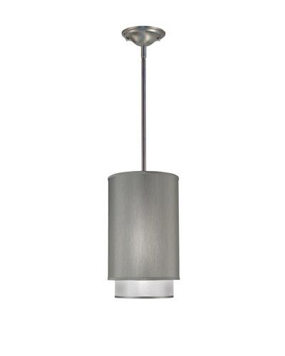 Lite Tops Double Cylinder Pendant, Satin Nickel