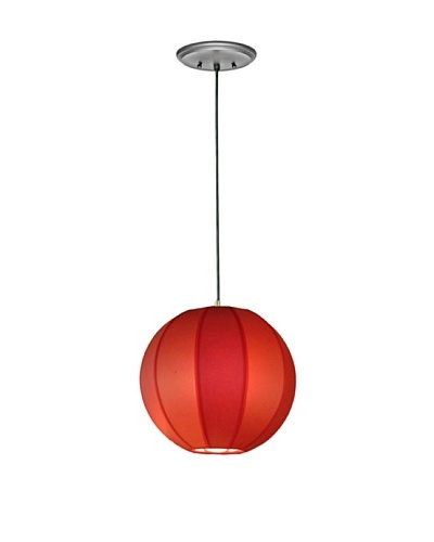 Lite Tops Sphere Pendant, Satin Nickel