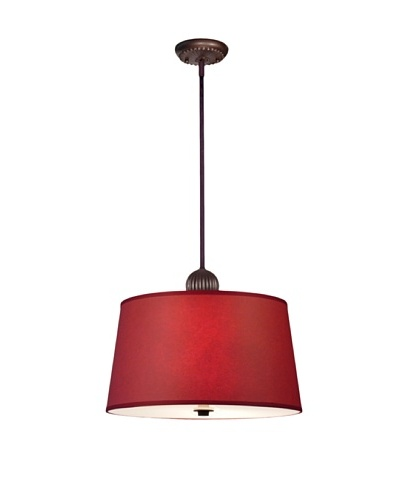 Lite Tops English Barrel Pendant Light, Oil-Rubbed Bronze