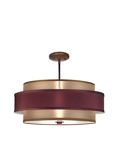 Lite Tops Saturn Ring Semi Flush-Mount Fixture, Oil-Rubbed Bronze