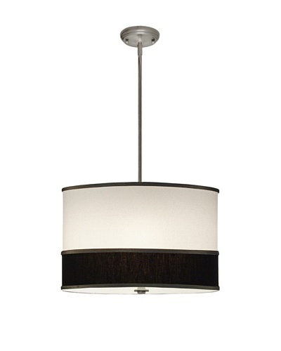 Lite Tops Multi Color Drum Pendant Light, Satin Nickel