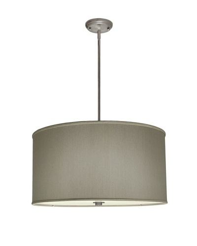 Lite Tops Drum Pendant, Satin Nickel