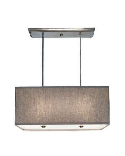 Lite Tops Rectangular Pendant, Satin Nickel