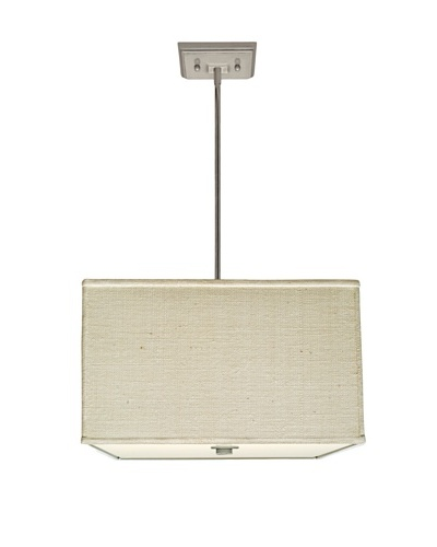 Lite Tops Square Pendant, Satin Nickel