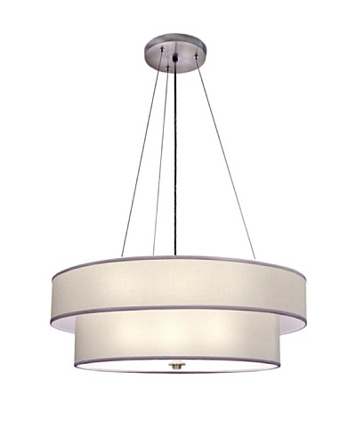 Lite Tops Loft Style Pendant Light, Satin Nickel