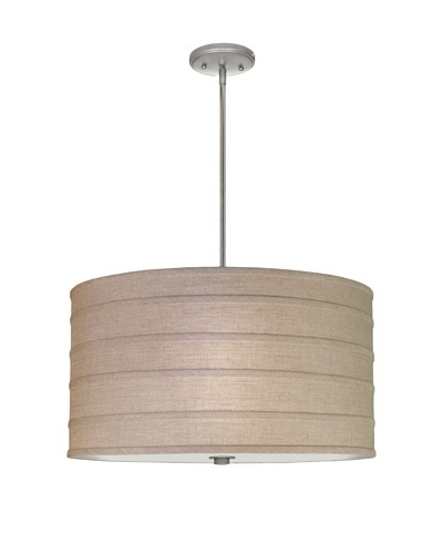 Lite Tops Striped Pendant Light, Satin Nickel