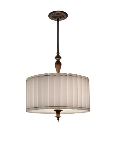 Lite Tops Fluted Pendant, Oil Rubbed Bronze
