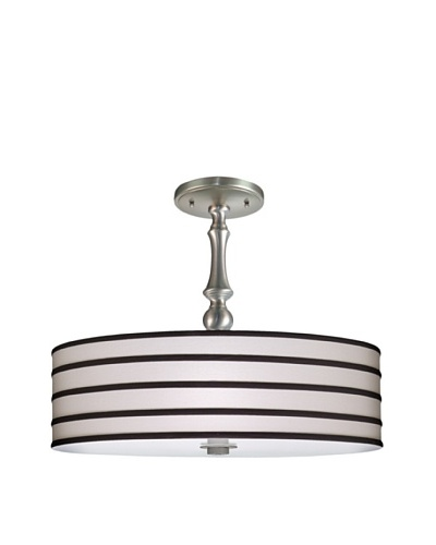 Lite Tops Striped Semi Flush, Satin Nickel