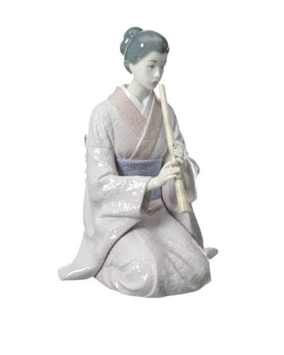 "Lladro ""Shakuhachi Player"" Handmade Porcelain Figurine"