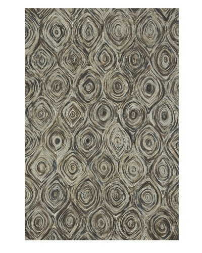 Loloi Rugs Rowan Rug, Charcoal/Brown, 5' x 7' 6""