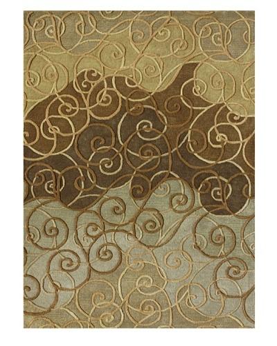 Loloi Rugs Zara Rug, Sage/Brown, 5' x 7' 6