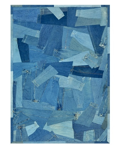 Loloi Rugs Runway Rug, Denim Sleeves, 5' x 7' 6