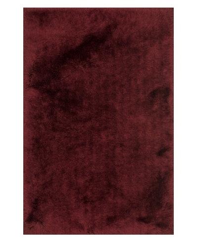 Loloi Rugs Allure Shag Rug, Garnet, 3' 6 x 5' 6