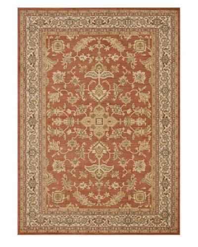 "Loloi Rugs Rylan Rug, Rust/Ivory, 9' 8"" Round"