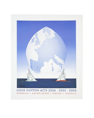 Signed Original Louis Vuitton ACTS 2 Sailboats, 2004-2006