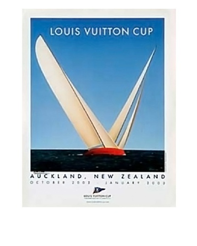 Signed Original Louis Vuitton Cup 2 Ships, 2003