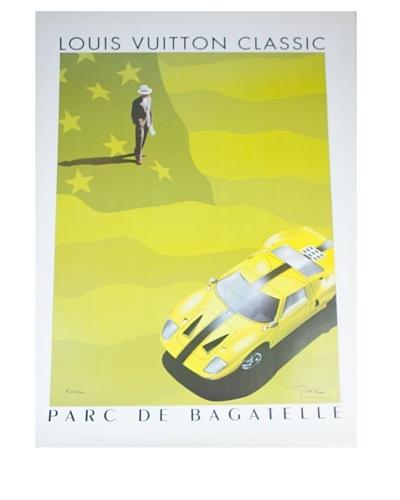 Signed Original Louis Vuitton Classic GTE40 Yellow Flag, 1995