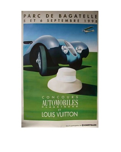 Original Louis Vuitton Bagatelle White Hat/Blue Car, 1998