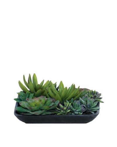 Lux-Art Silks Succulent Waterlike, Green