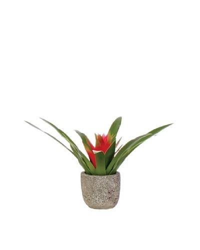 Lux-Art Silks Small Bromeliad Pot, Red/Green