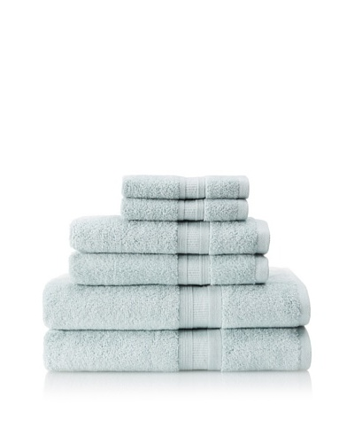 Luxury Suite MicroCotton Aertex 6-PieceTowel Set, Sea Glass
