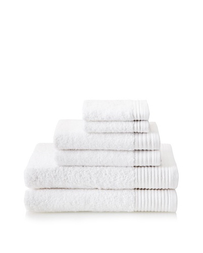 Luxury Suite Supima 6-PieceTowel Set, White