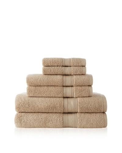 Luxury Suite MicroCotton Aertex 6-Piece Towel Set, Linen