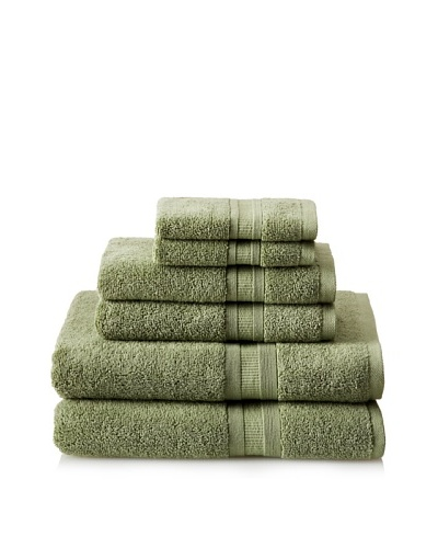 Luxury Suite MicroCotton Aertex 6-PieceTowel Set, Bamboo