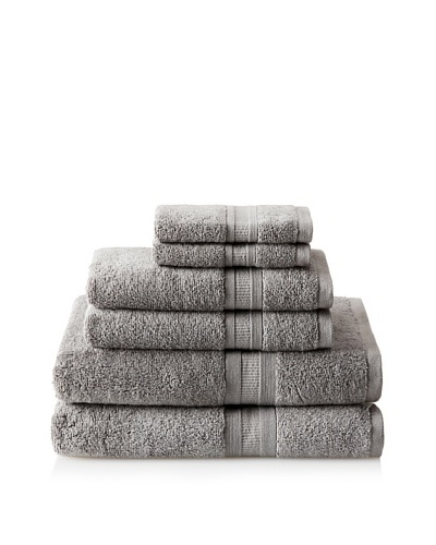 Luxury Suite MicroCotton Aertex 6-PieceTowel Set, Steel