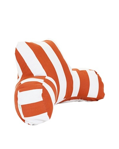 Majestic Home Goods Vertical Stripe Reading Pillow, Burnt OrangeAs You See