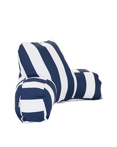 Majestic Home Goods Vertical Stripe Reading Pillow, NavyAs You See