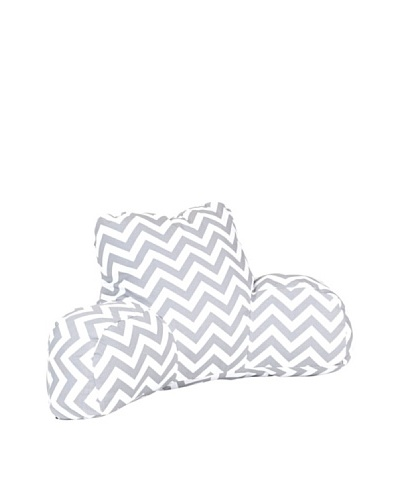 Majestic Home Goods Chevron Reading Pillow, GrayAs You See