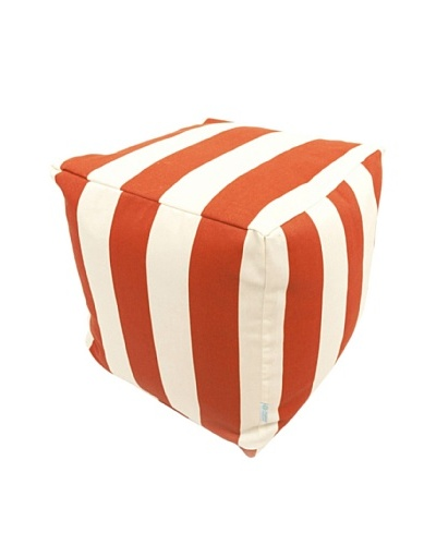 Majestic Home Goods Vertical Stripe Small Cube, Burnt OrangeAs You See